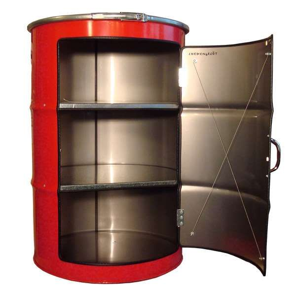 Upcycled Oil Drum Cabinets Oil Drum Oil Barrel Industrial Furniture