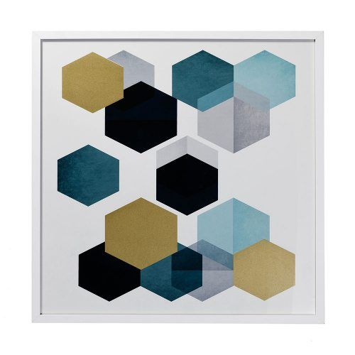 Hexagon Metallic Prints