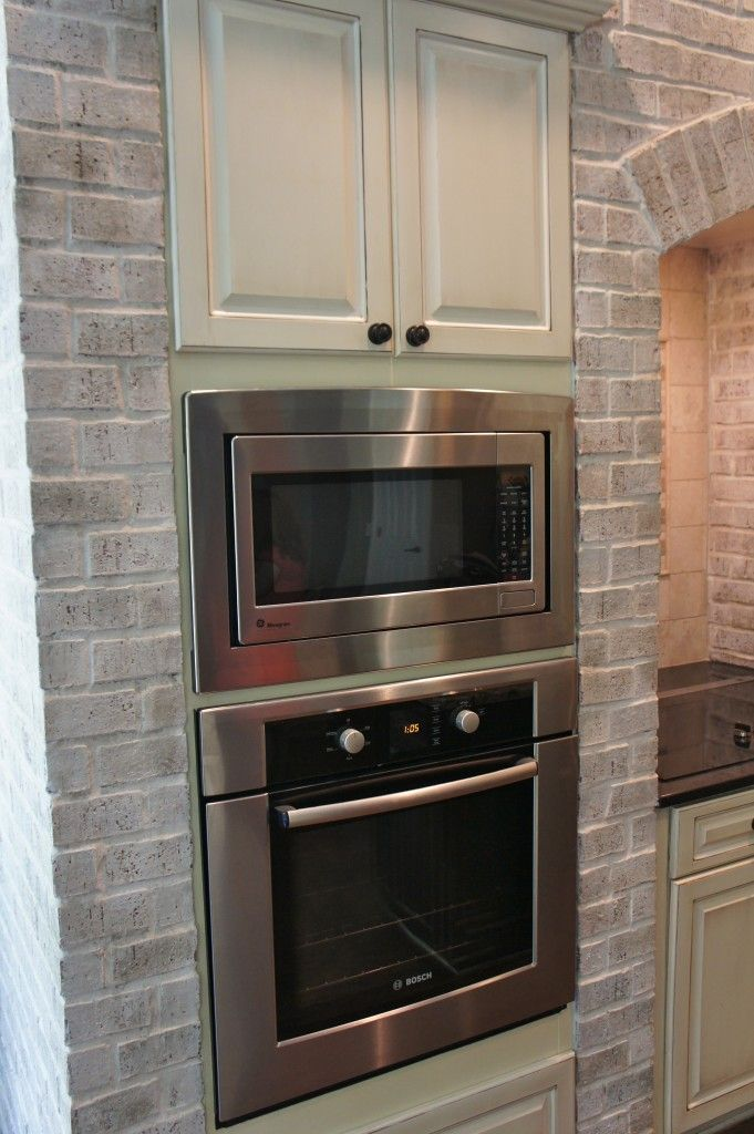 brick painted with Annie Sloan Chalk paint mixed 3 parts water to 1 part paint and then highlighted