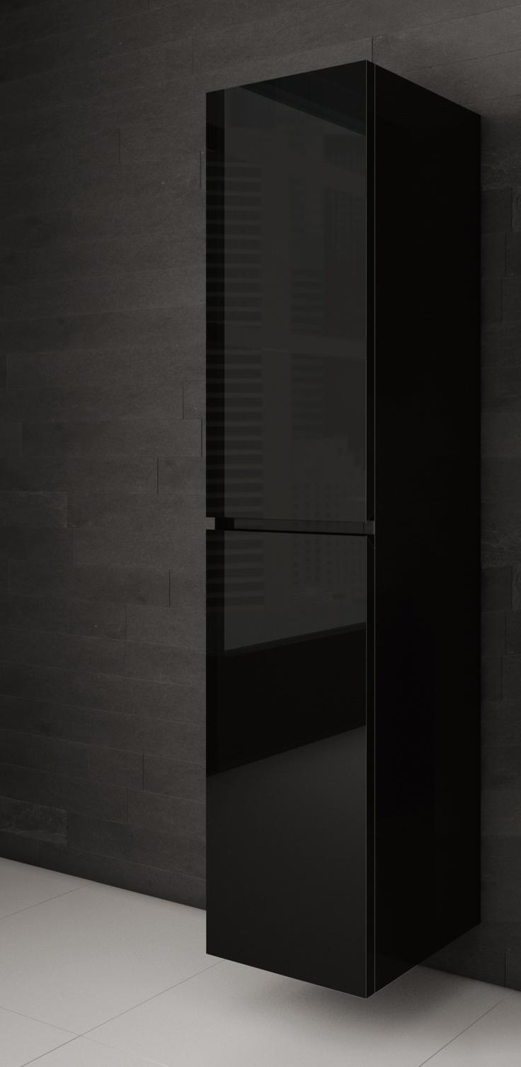 Lingerie salle de bain noire - AQUA MOBILIA. Disponible chez Montréal - Les - Bains