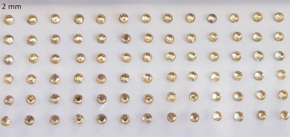 120 Rose Gold Dots Stick On Fake Nose Studs/Gold by Beauteshoppe