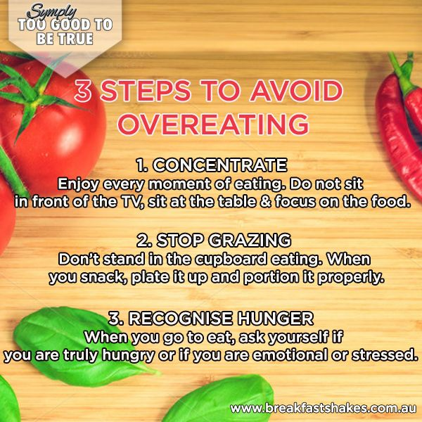 A sure-fire way to put on weight in winter is overeating! Avoid overeating with these 'symply' tips!