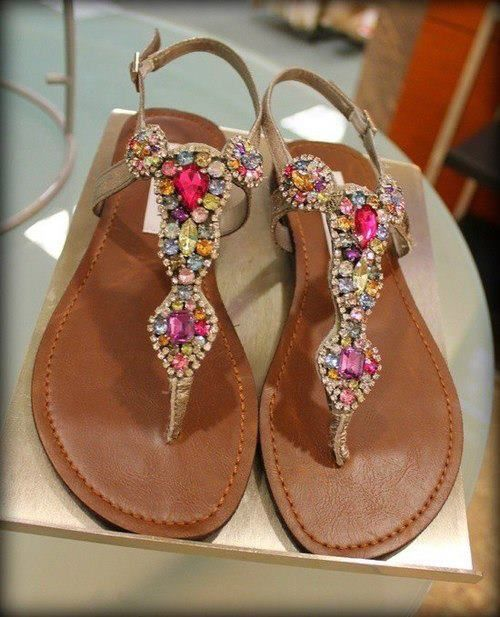 I need some colorful sandals <3