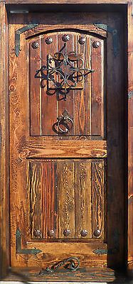 RUSTIC SOLID wood DOOR reclaimed lumber wrought iron Spanish nails speakeasy in Collectibles, Cultures & Ethnicities, Latin American | eBay