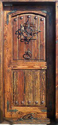 RUSTIC SOLID wood DOOR reclaimed lumber wrought iron Spanish nails speakeasy in Collectibles, Cultures & Ethnicities, Latin American | eBay