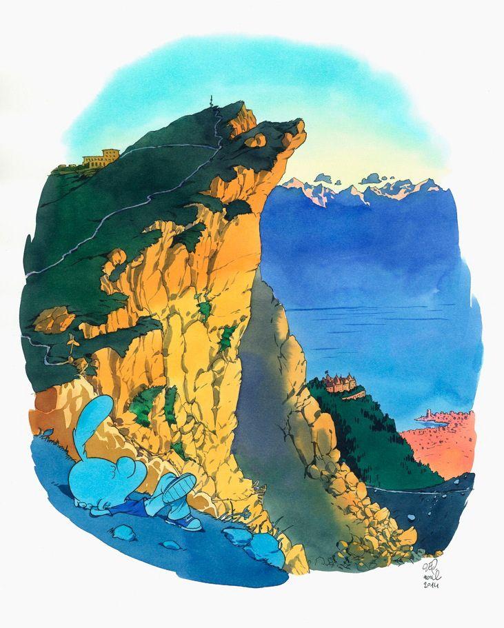 """Zep, Naye, série limitée à 100 ex, 2014 Série réalisée en exclusivité pour Janus Gallery dans le cadre de l'exposition """"Zep à Montreux"""". Tirage Laurent Cochet."""