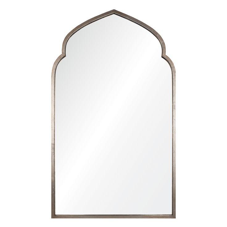 """30""""W x 50""""H $1042 Mirror Image Home Pointed Arch Silver Mirror @Zinc_Door"""