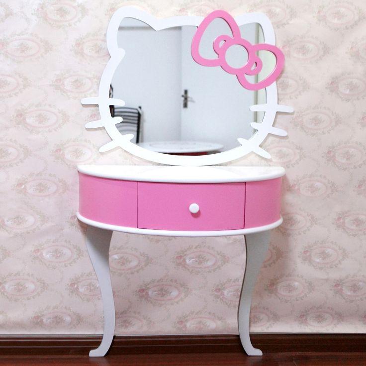 Hello kitty hello kitty bathroom mirror decorative vanity for Table exterieur hello kitty