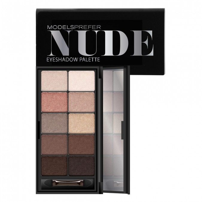 It's time to get your nude on with this collection of luxurious, silky eyeshadows in a variety of matte and shiny nude shades! Wearalone for a soft natural look or mix shades to create a super sophisticated smokey eye in warm nude tones. This palette contains 10nude shades, applicator and mirror.