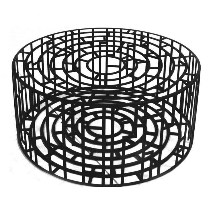 Moroso - Kub Hocker / Beistelltisch - schwarz/matt/Größe 2/HxØ 28x65cm 964€