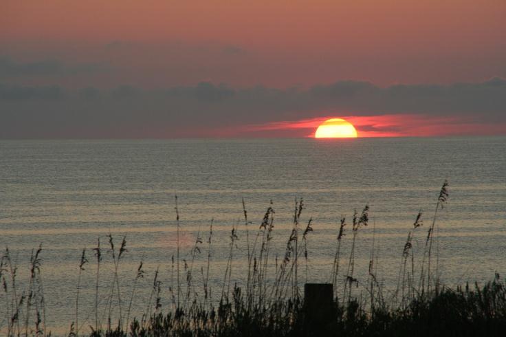 Corolla, North Carolina...The Outer Banks at sunset.