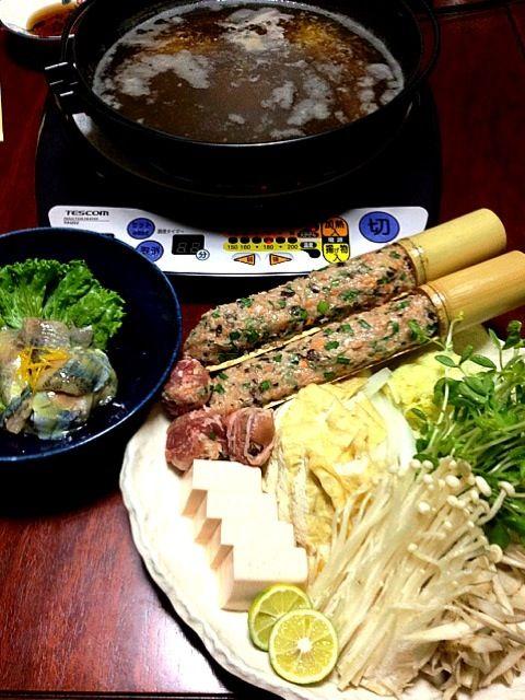 momomurasakiさん推奨の秋刀魚のぬた素朴な味わいで好きです♡ 鶏つくねは、生姜とニラたっぷり 豚コマがあったので、つくねの豚コマ巻きも投入しました大喜び - 123件のもぐもぐ - momomurasakiさんの秋刀魚のぬた・鶏つくね鍋 by see9100