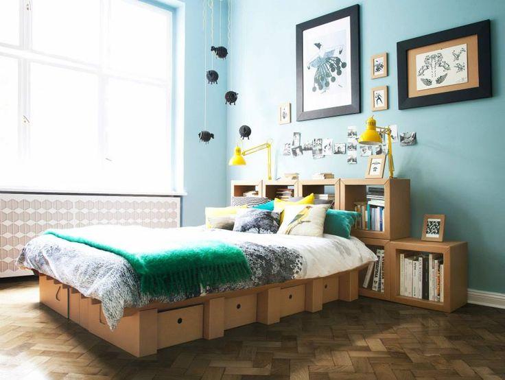 Kann ein Bett aus Pappe halten? Stange stellt jede Art von Möbeln aus Pappe her. Schaut euch das Ergebnis an. Faszinierend. #Möbel #lifestyle