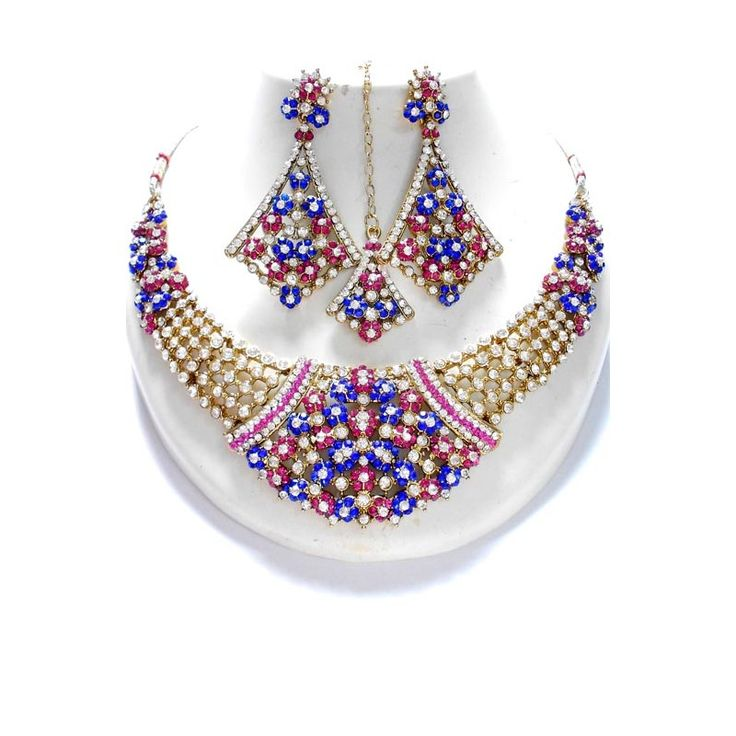A beautifully designed Multicolored Stoned Bridal Jewelry set available at http://skyfashionshop.com/indian-bridal-jewelry-set/117-coloured-stone-jewelry-set.html  #indianfashionjewelry #fashionjewelryset #indianbridaljewelry #czbridaljewelry #CZjewelry