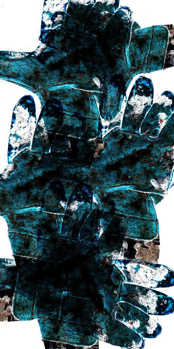 """Fingers"" Giclée Art Print, 40 x 80 cm"