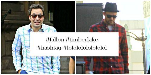 Jimmy Fallon and Justin Timberlake #hilarious #hashtag