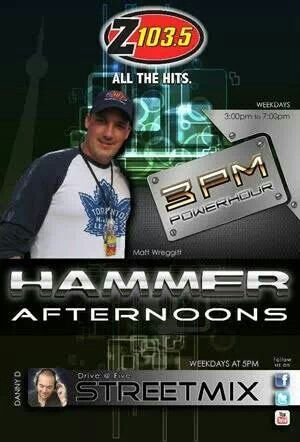 The Hammer on the Afternoon Drive Weekdays 3:00-7:00