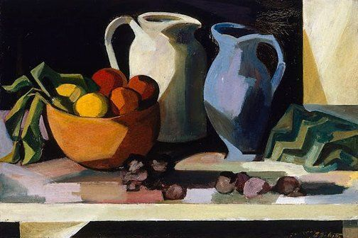 Still life with wooden bowl by Jean Bellette 1950s