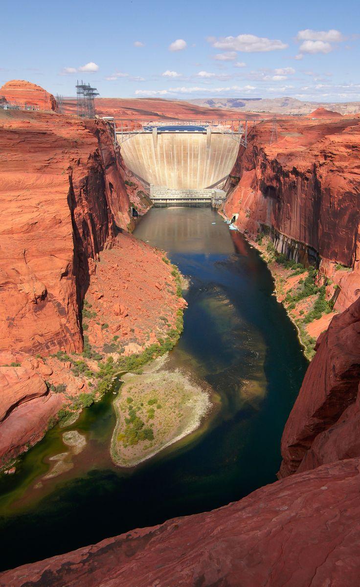 About USA           - Glen Canyon Dam - Lake Powell - Arizona - USA...