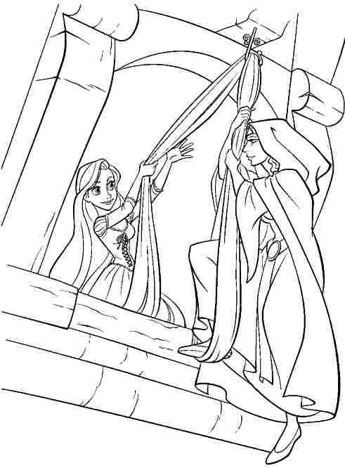 printable free disney princess tangled rapunzel coloring pages for kids