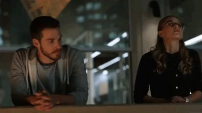 Kara and Mon-El on the DEO balcony...I said I was excited for the angst, and weirdly enough, I still am. Melissa Benoist and Chris Wood are just amazing together, and I'm interested in hearing the story behind Mon-El's situation. LOVED this episode! |TV Shows|CW|#Supergirl gifs|Season 3|3x07|Wake Up|Kara/Mon-El|#Karamel gifs|#DCTV|