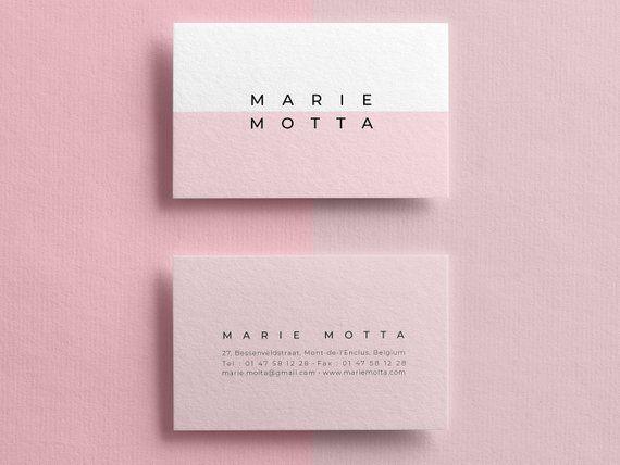 Editable Pink Business Card Business Card Templates Clean Business Card Min Cleaning Business Cards Customizable Business Cards Templates Pink Business Card