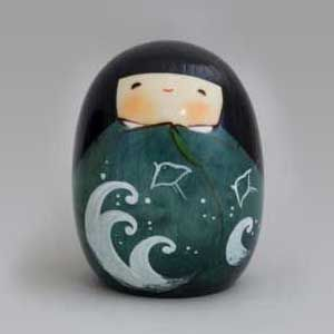 BESTJAPAN   Japanese Kokeshi Doll - Natsu (Summer)   #kokeshi #japanese #usaburo #japan