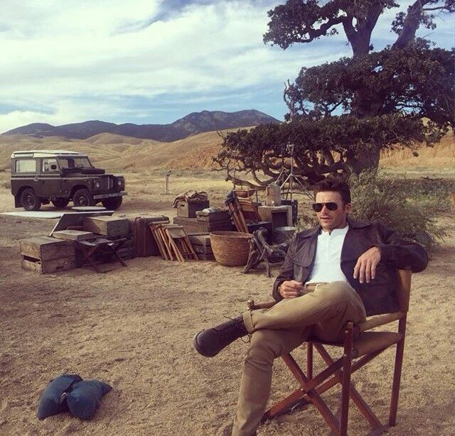 Scott Eastwood on the set of wildest dreams