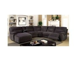 Furniture of America Karlee Ii Transitional Sectional w/ Console CM6853-SECTIONAL