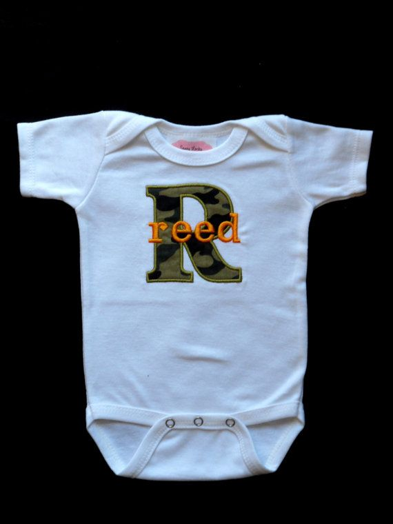Hey, I found this really awesome Etsy listing at http://www.etsy.com/listing/158490449/monogrammed-baby-boy-clothes-camo-baby