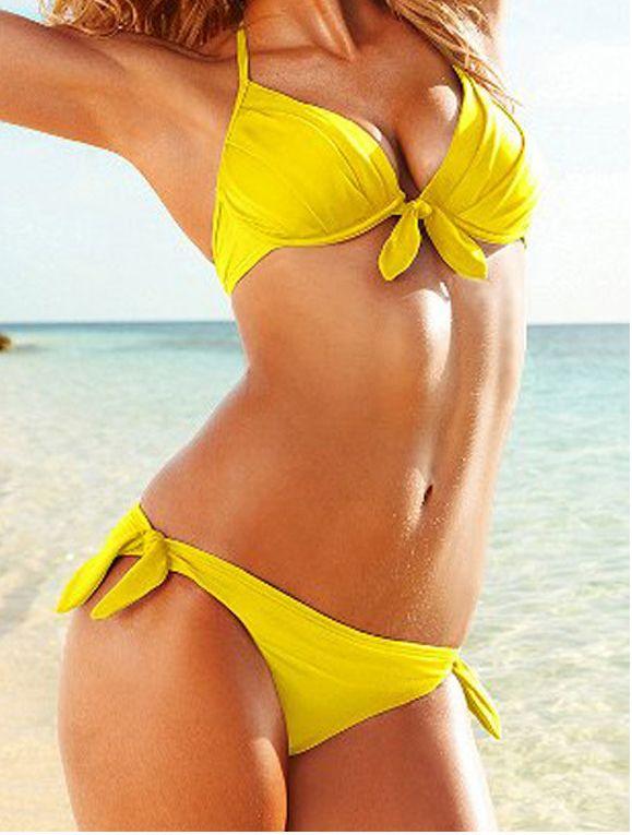 Great Sales On Pompeii Yellow Floral Print Cheeky Bikini Bottoms