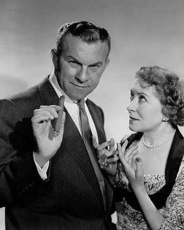 """The George Burns-Gracie Allen Show"" (1950-58)  George Burns and Gracie Allen  c. 1951"