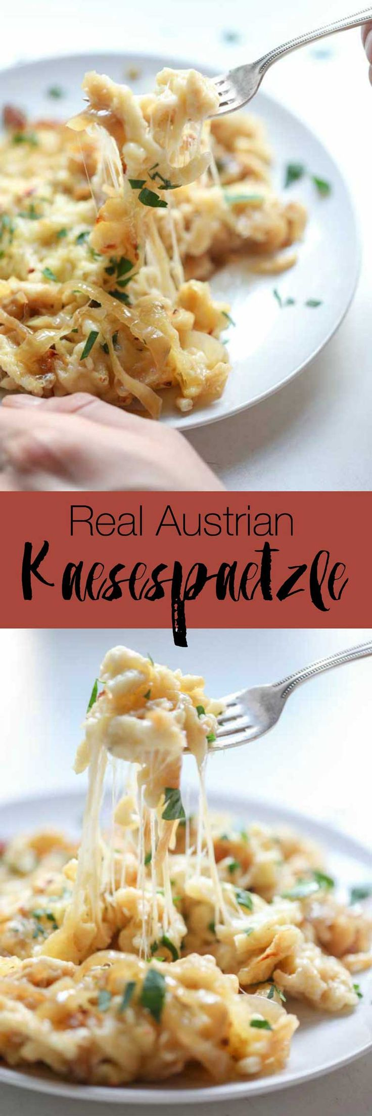 Cheese lovers beware! This austrian kaesespaetzle recipe will give you a stretchy cheese overdose :-)