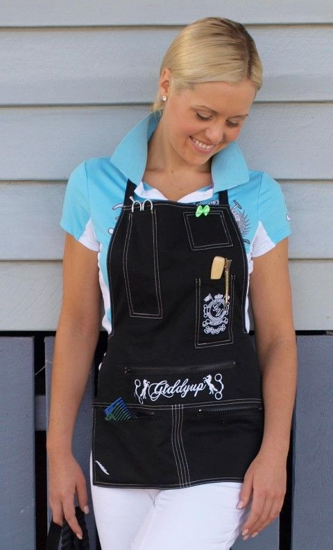 Great plaiting apron for the horse lover with everything