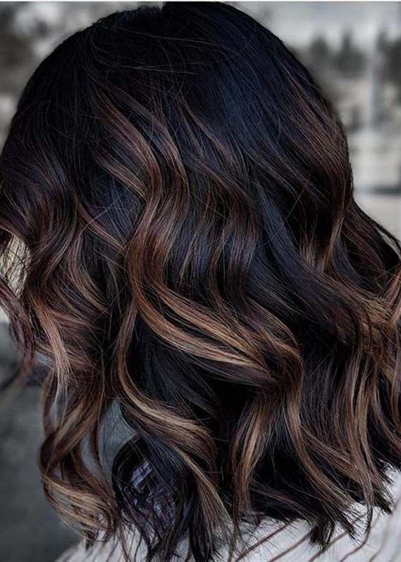 Modern Dark Balayage Hair Color Ideas For Women In 2020 In 2020 Brunette Hair Color Dark Brunette Hair Brown Hair Balayage
