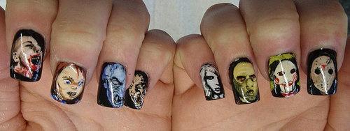 Horror Movie Nail Art