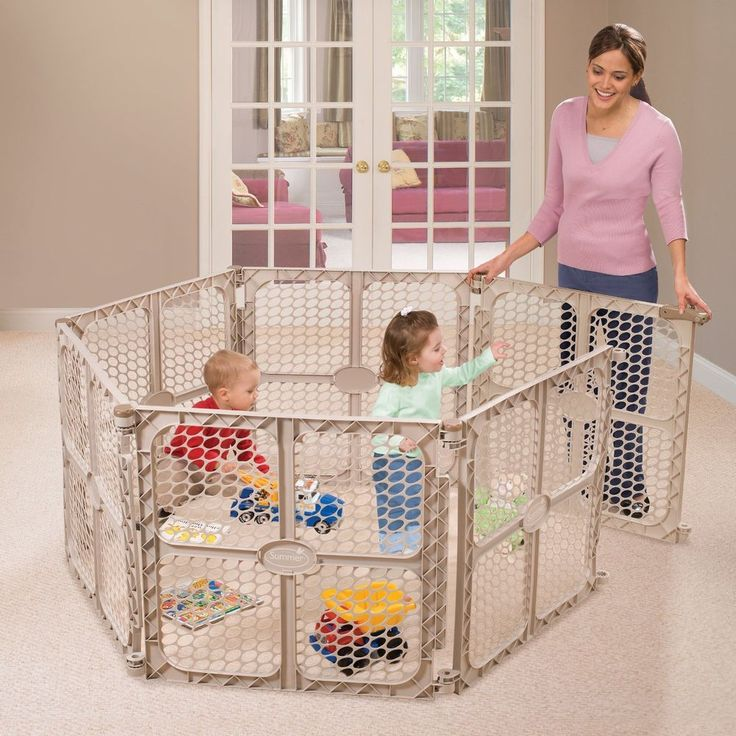 Large Portable Safety Play Yard Child Safety Gate Walk Through Pet Exercise  Pen