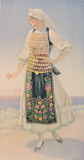 TRAVEL'IN GREECE I Woman's Costume (Lokris, Livanates)