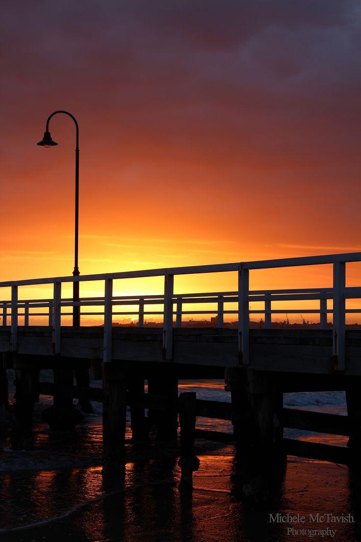 Kerferd Rd pier at sunset.