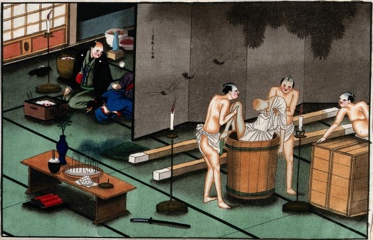 Japanese funeral customs, c.1880. The Wellcome Library, CC BY