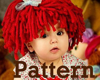 Free Crochet Baby Wig Hat Pattern : 17 Best ideas about Cabbage Patch Hat on Pinterest ...