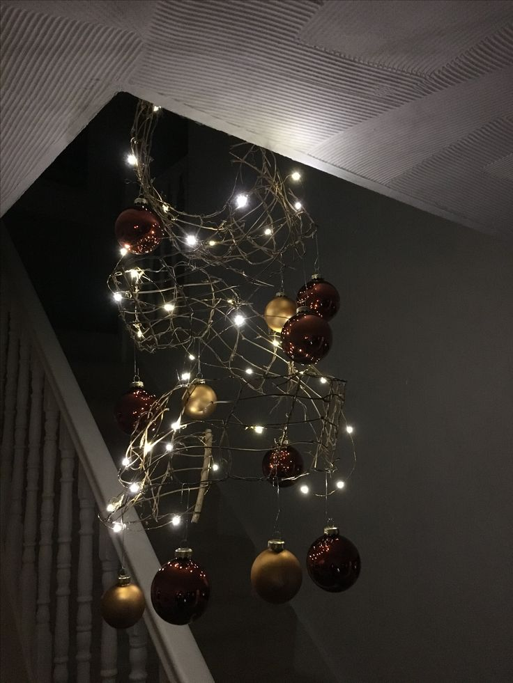 Simple Christmas feature using Konstsmide battery thin wire lights