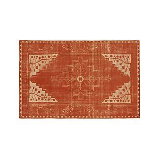 Anice Orange Rug from Crate and Barrel - It's a gorgeous rug in a wonderful colour. Bit spendy, though.