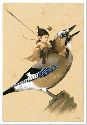 Fairy Boy and Feathered Friend <*> by Jean-Baptiste Monge (via Artodyssey)