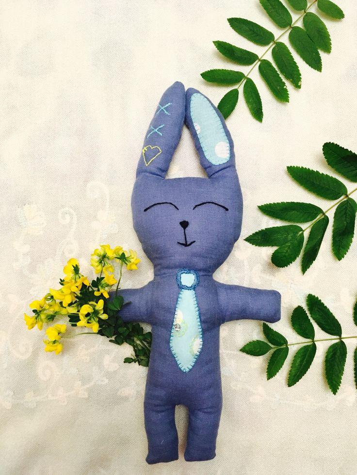 Bunny toy eco friendly linen