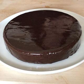 Chocolate Ganache Cake with Chevron Decoration - Barefoot Contessa