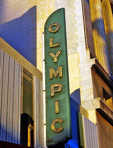 Olympic Theater sign, Los Angeles CA