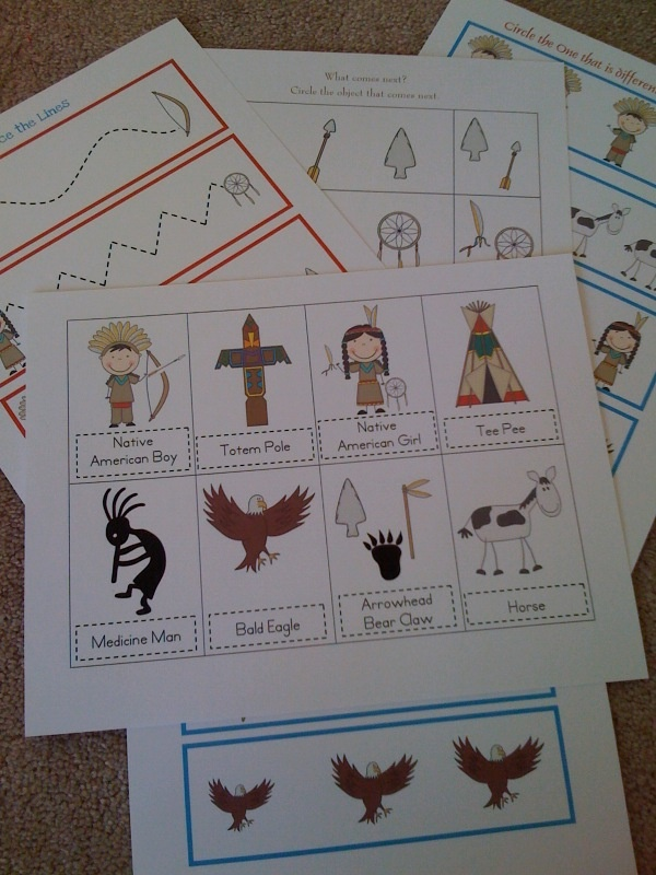 Preschool Printables: Native American