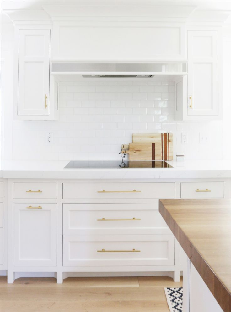 Before And After Robin Road Kitchen Remodel White CabinetsKitchen Cabinets Knobs PullsBrass