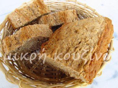 μικρή κουζίνα: Ψωμί μπύρας ολικής, με παπαρουνόσπορο